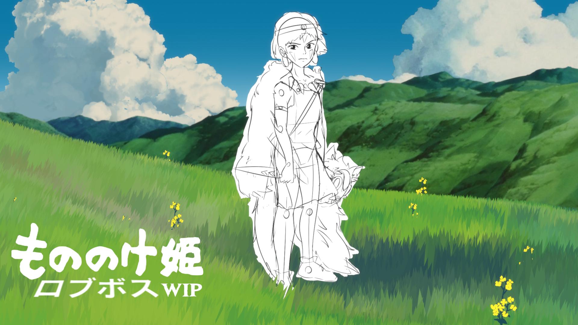 2D/3D Princess Mononoke WIP