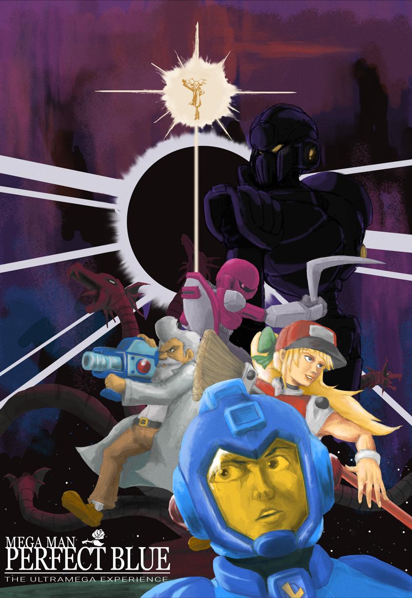 Mega Man Perfect Blue Poster By Karakato On Newgrounds