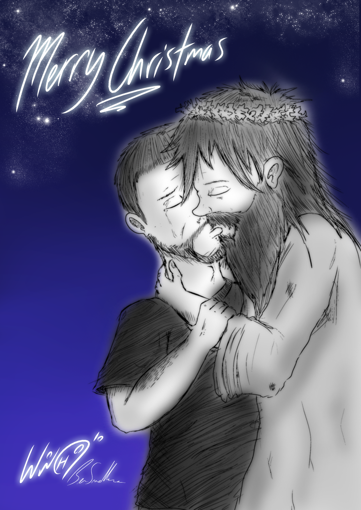 Tom and Jesus Making Out