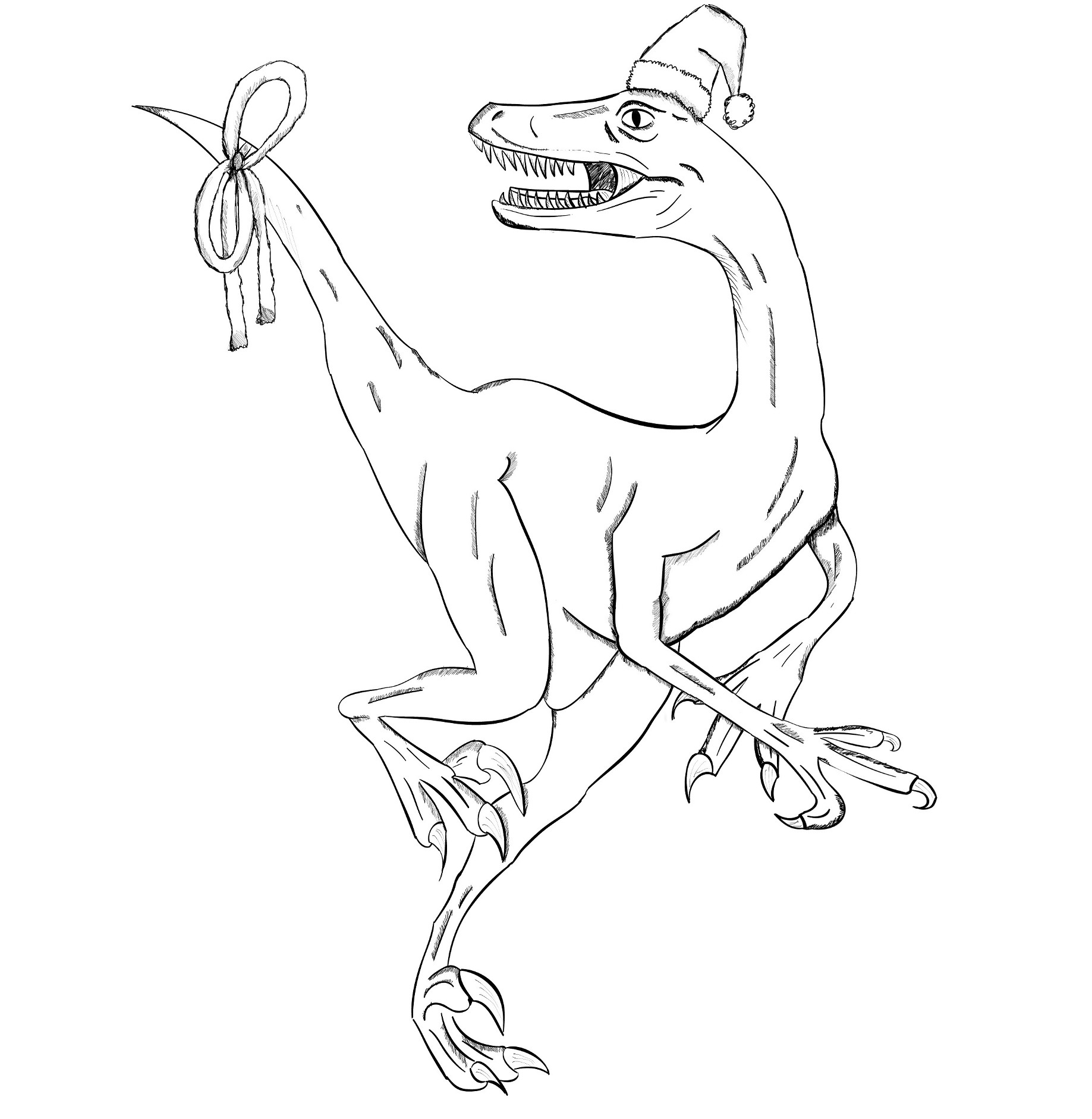 X-mas Velociraptor