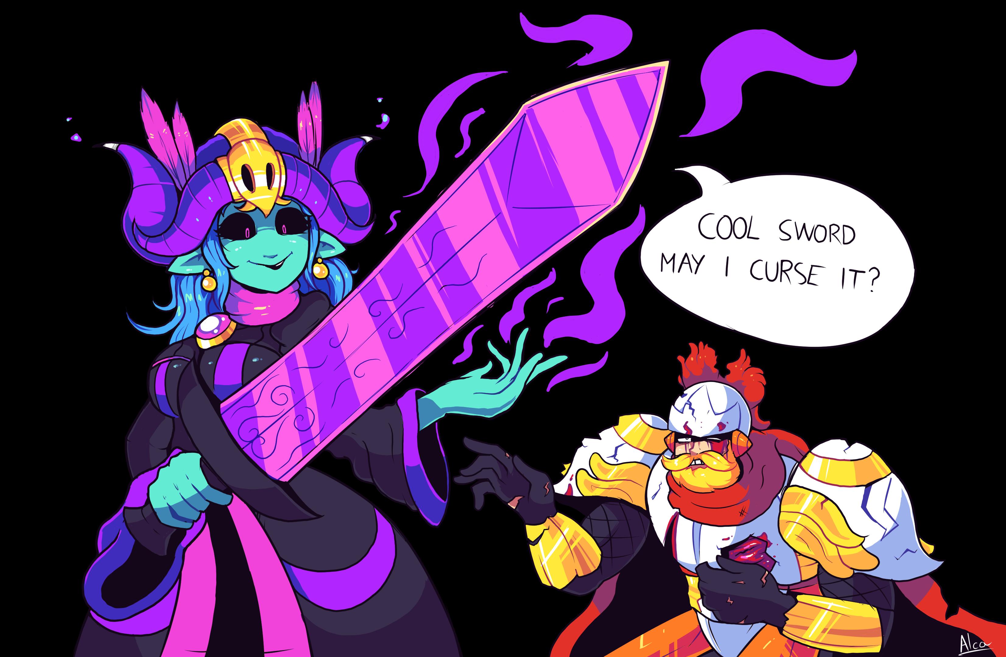 Knightober Day 2: Cursed Sword