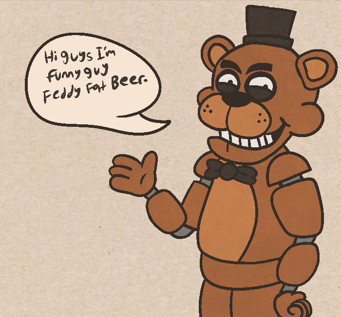 First actual drawing of the bear from FNAF