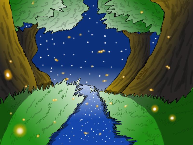 Fireflies By The Riverside