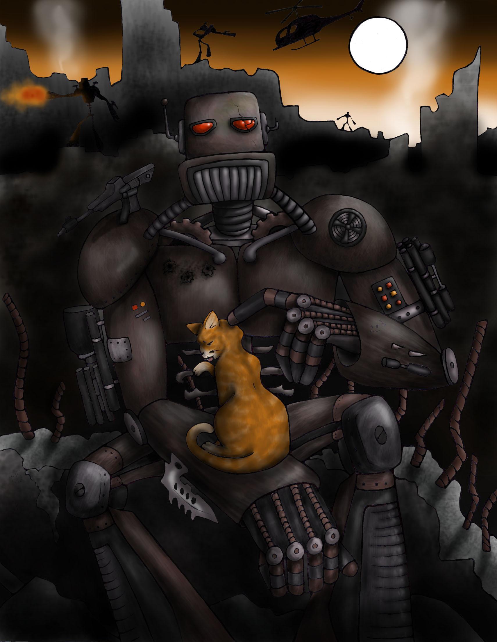 robots love kitties too