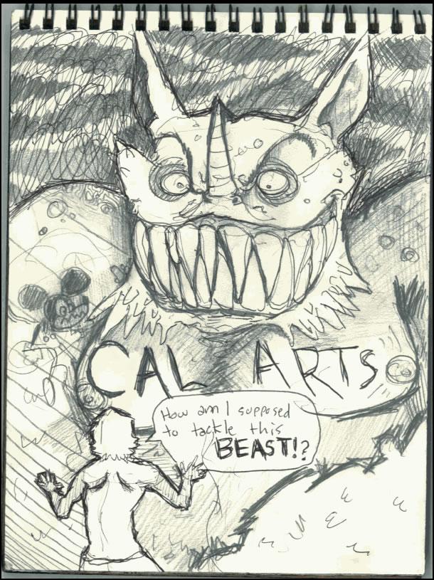 CalArts Sketch Book Page 7