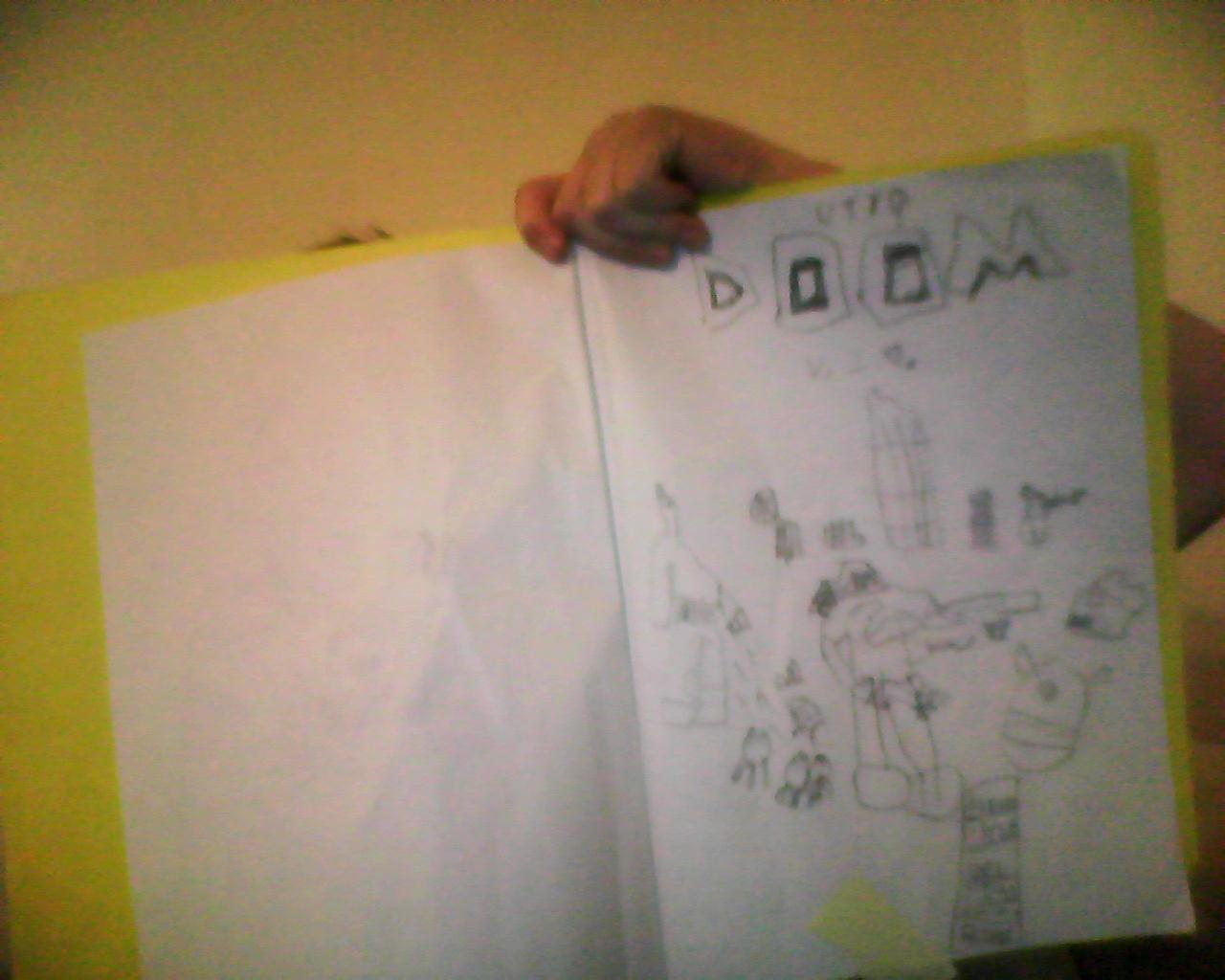 kid draw : doom