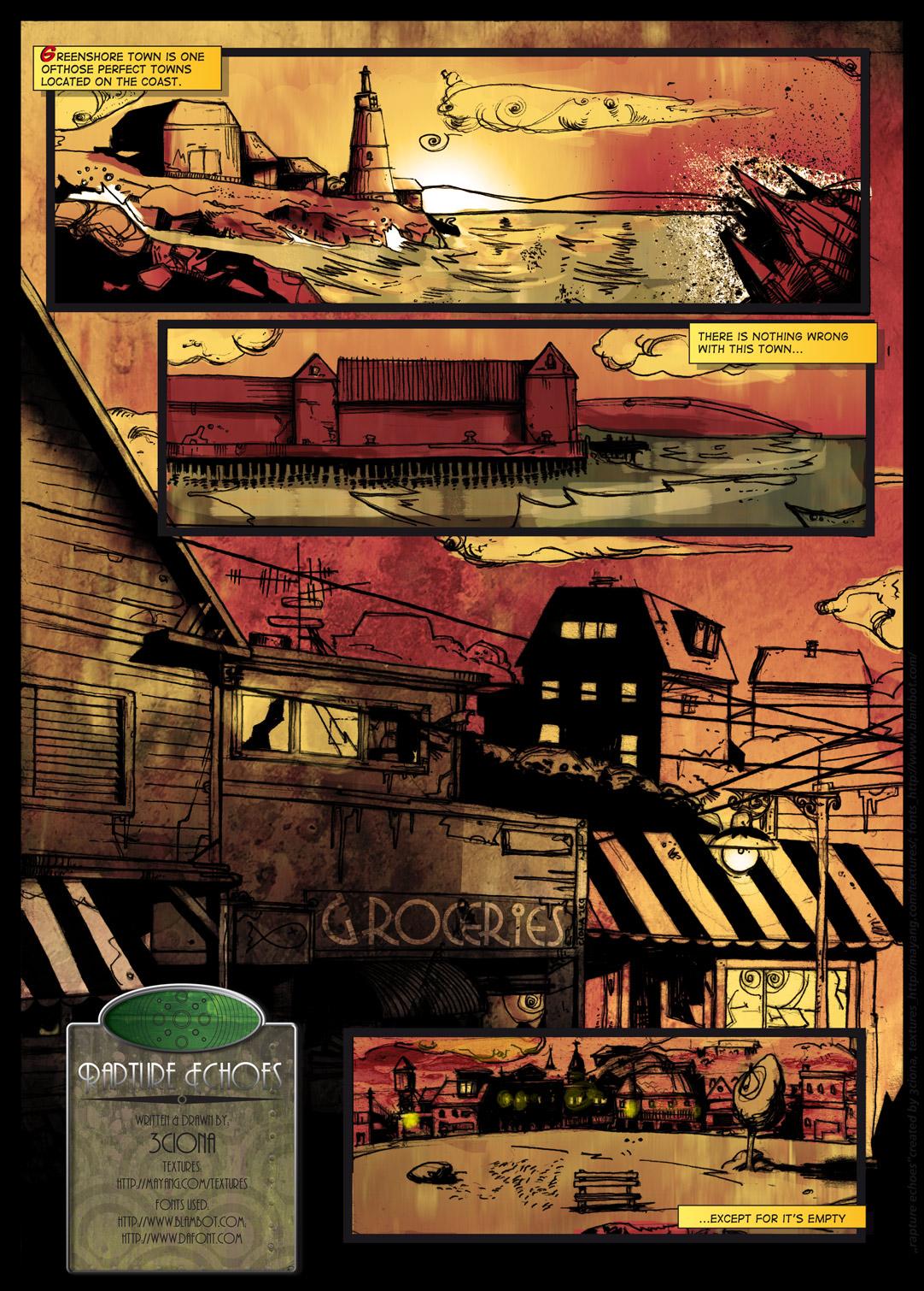 bioshock fan comic book pg1
