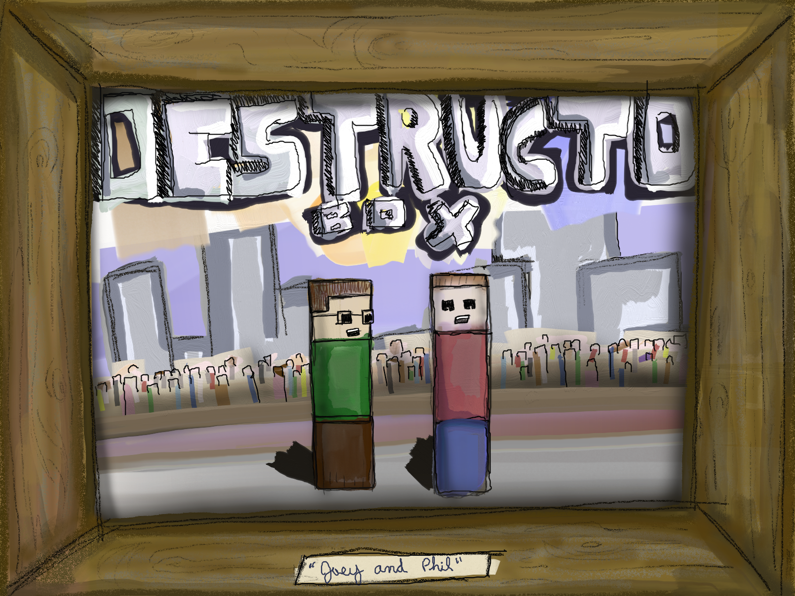 Destructo Box Painted Painting