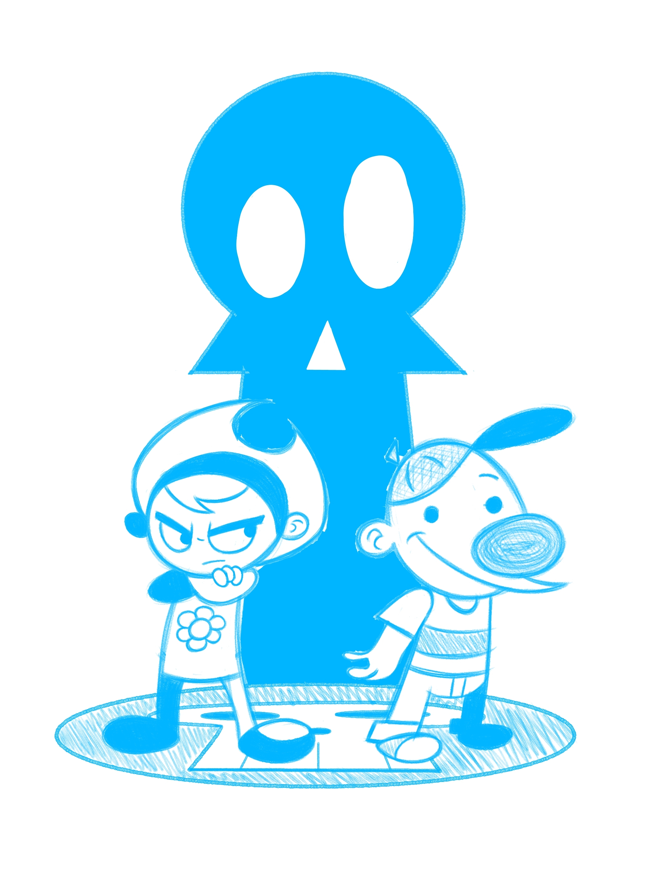 An Ode to Billy and Mandy (penciling process)