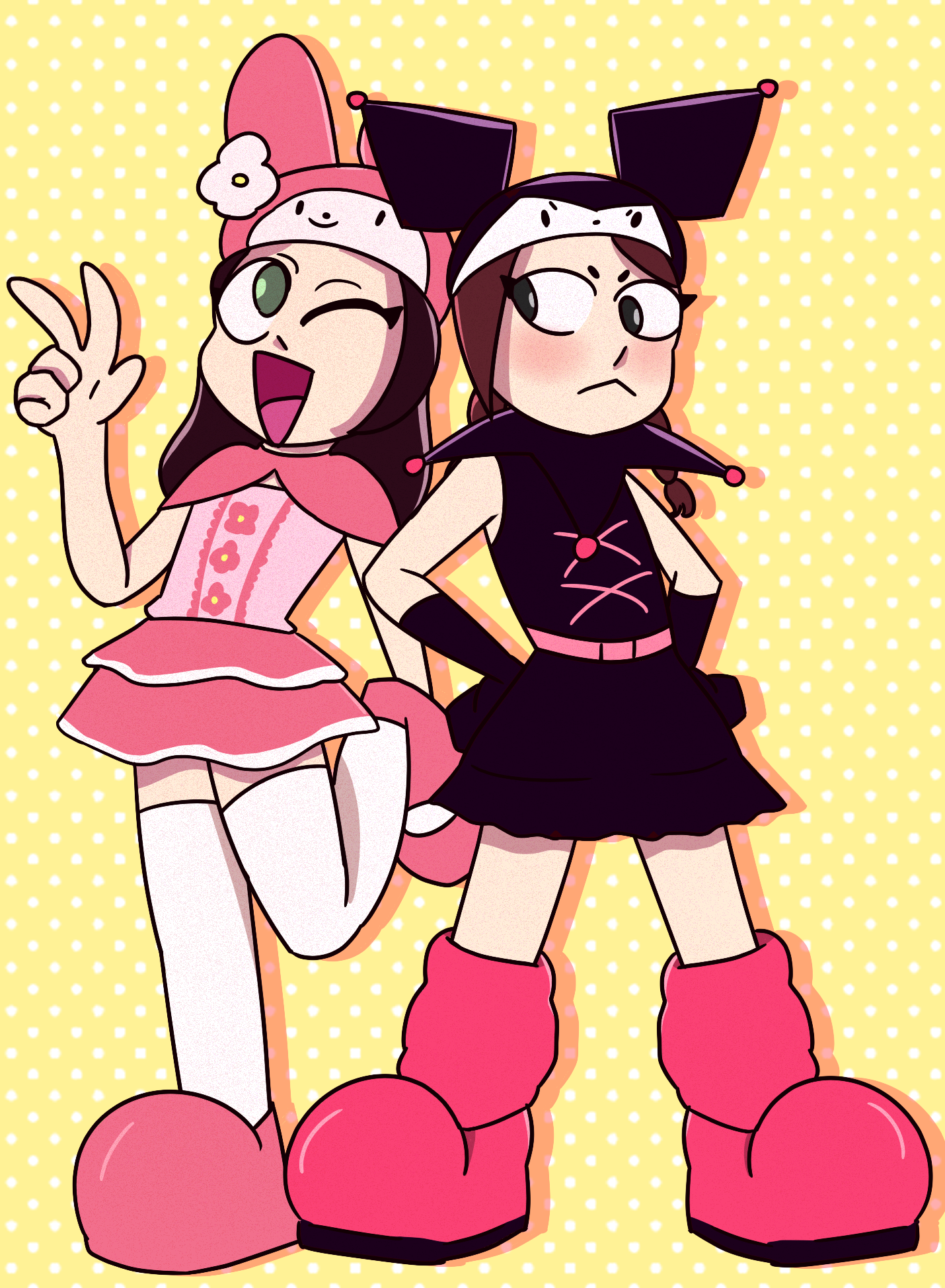 Pinky:st My Melody and Kuromi