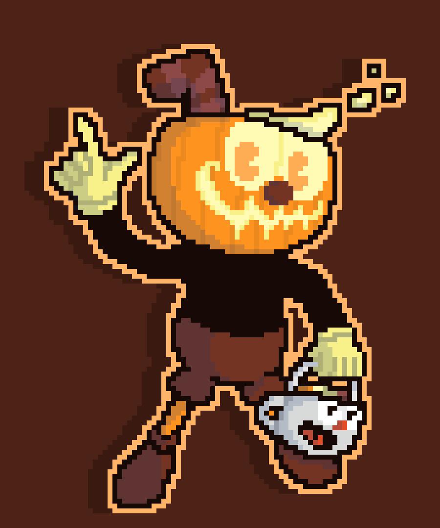 Cuphead Halloween Shtick (PumpkinHead)