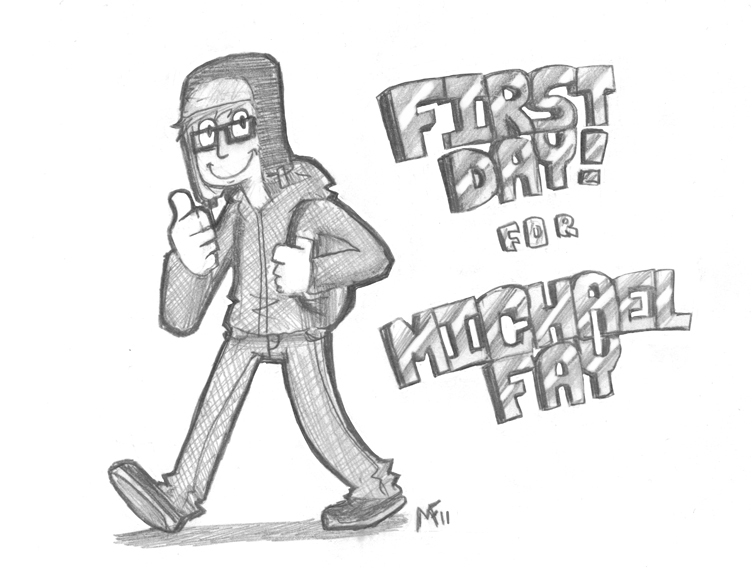 First Day for Michael Fay