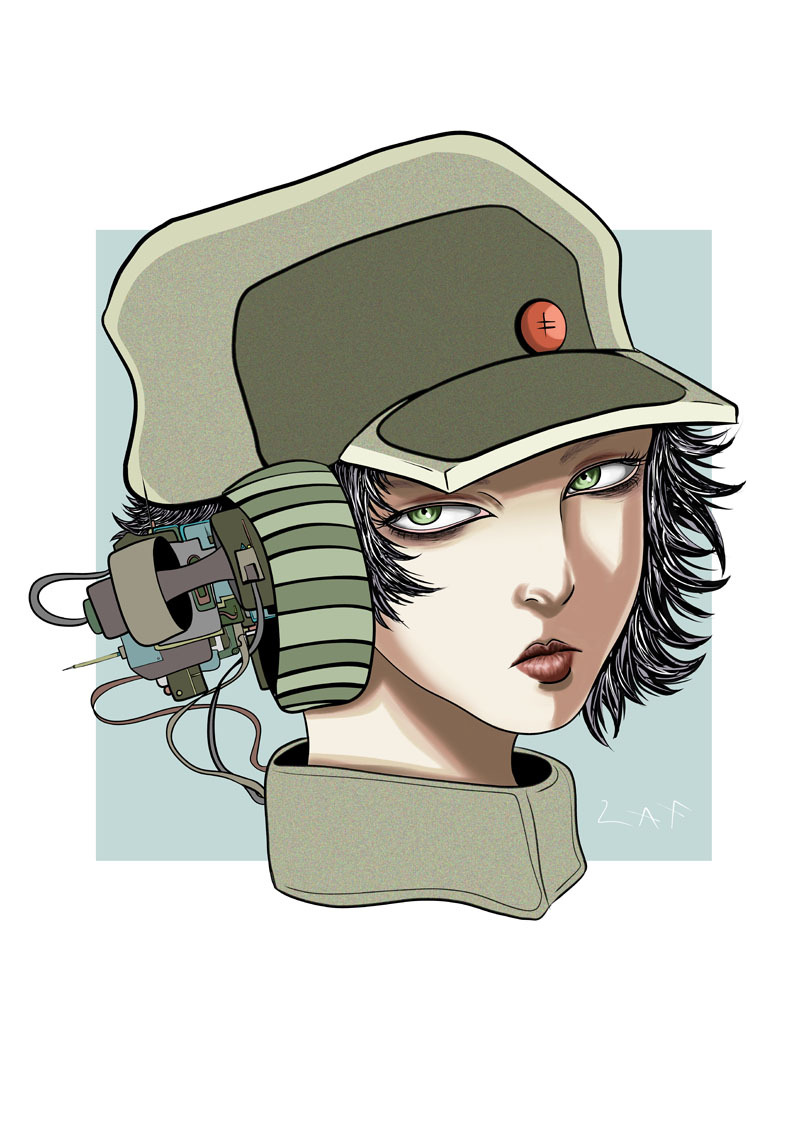 When in Doubt...Draw a Army Girl