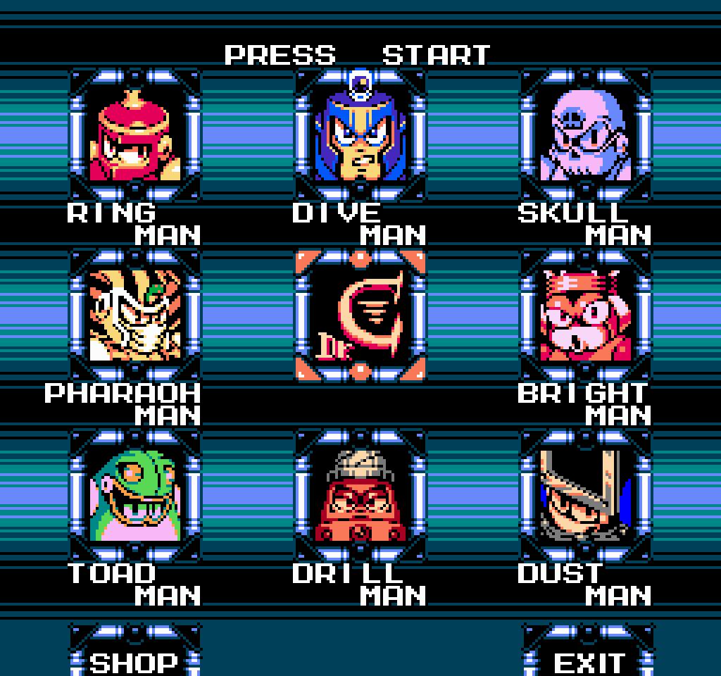 Mega Man 4 Stage Select Reimagined