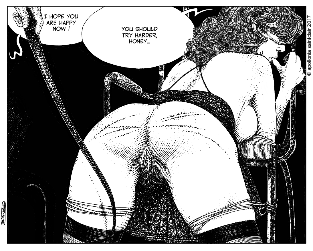 When Madame wears the panties, she takes them off