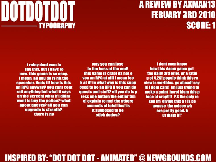 Dot Dot Dot - Typography