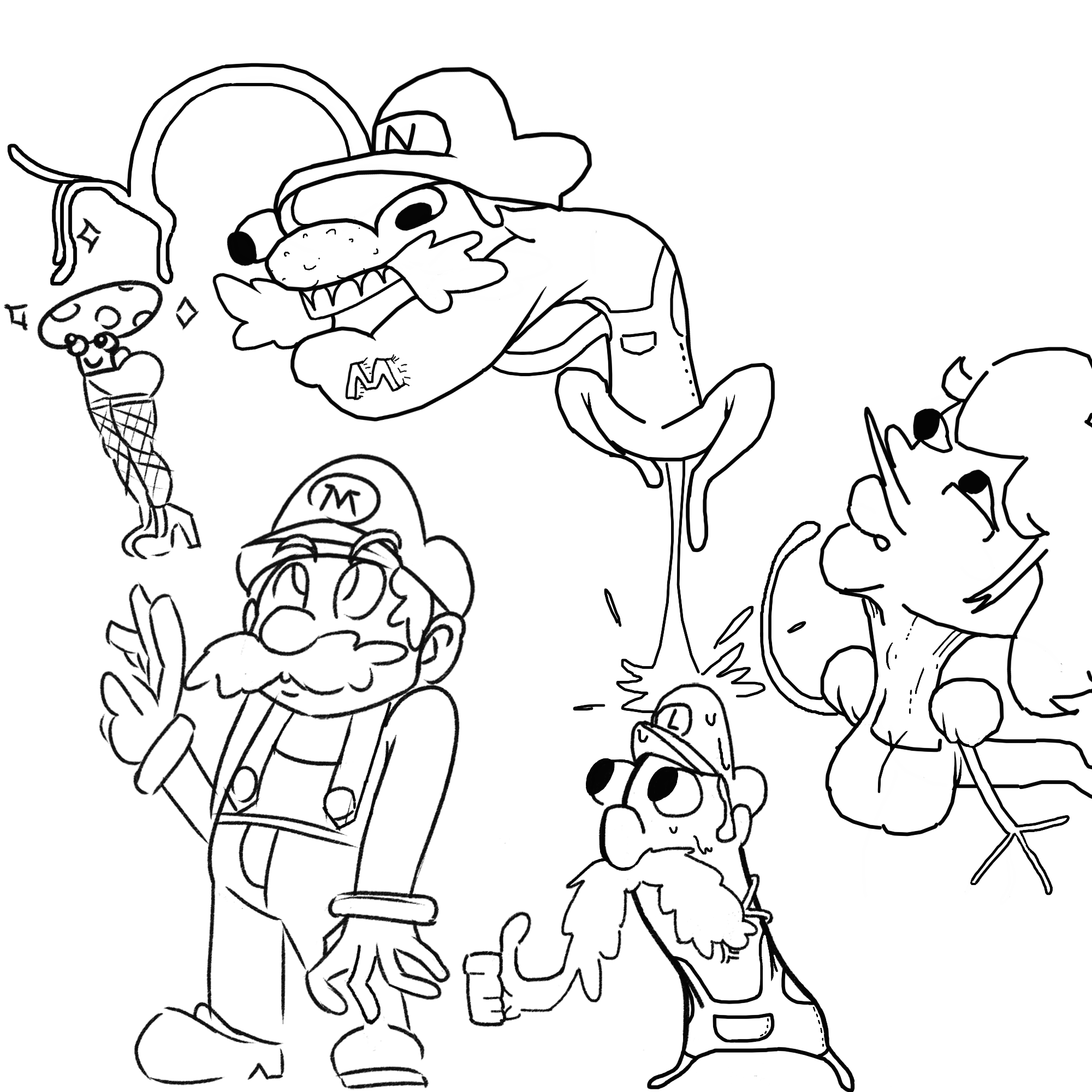 Ew wtf mario the plumber