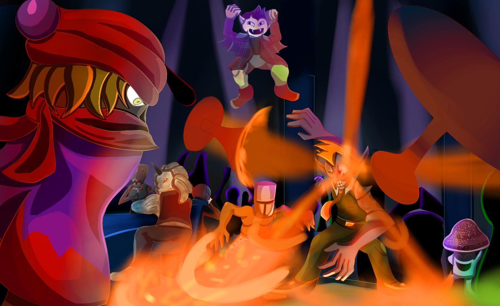 everhood-dancefloor is lava