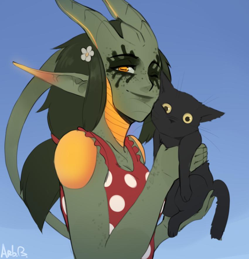 Natyss with cat
