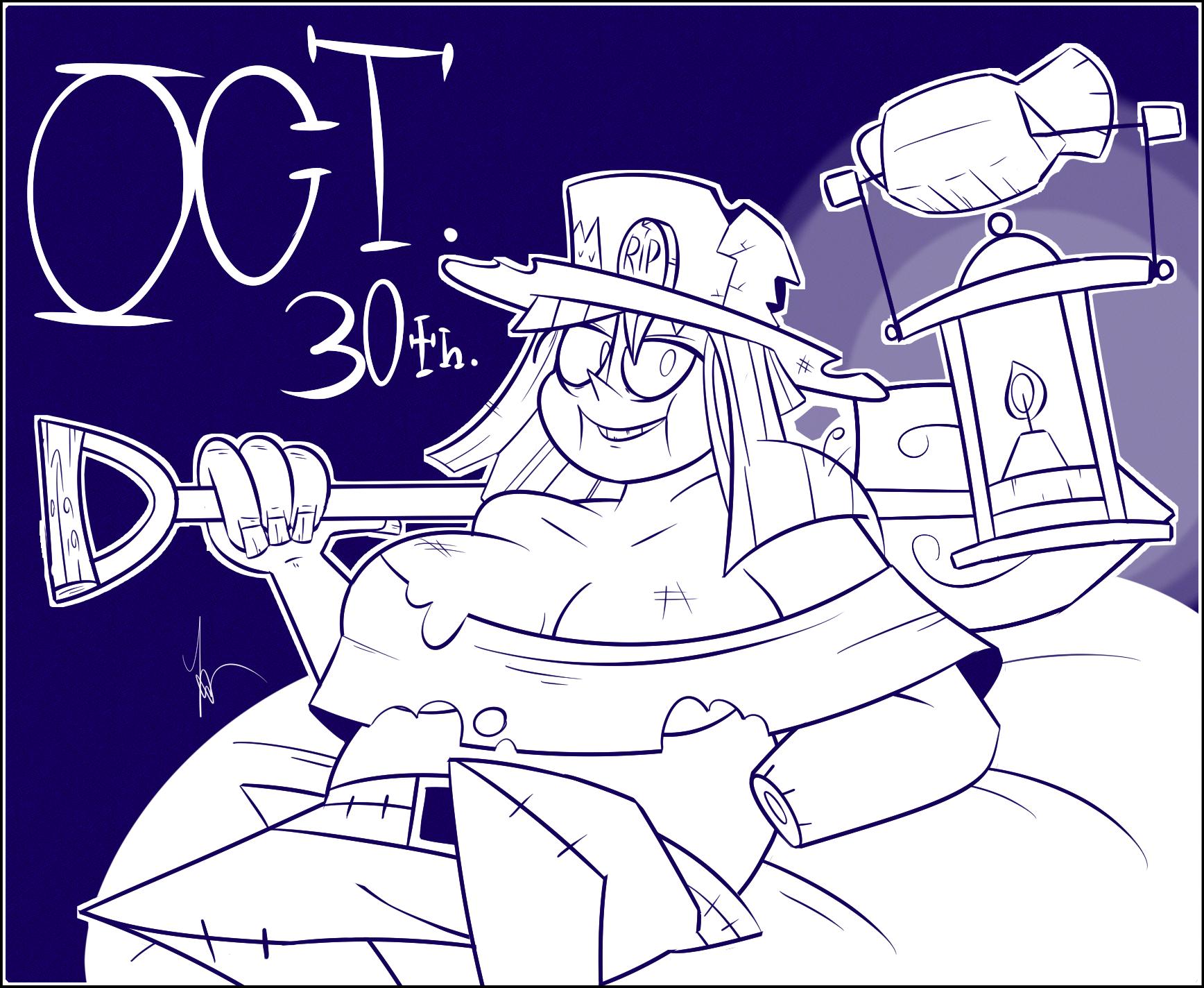 Inktober 2020 Day 30: Graveyard Witch