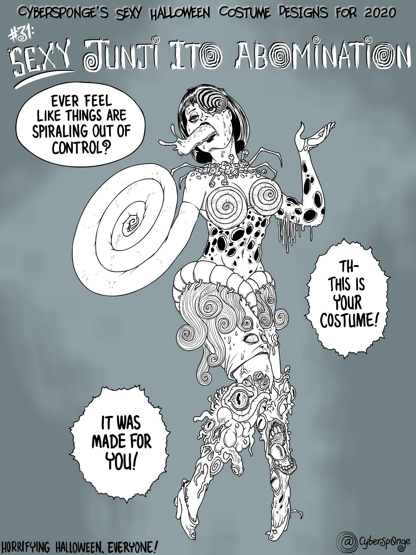 Sexy Junji Ito Abomination Costume