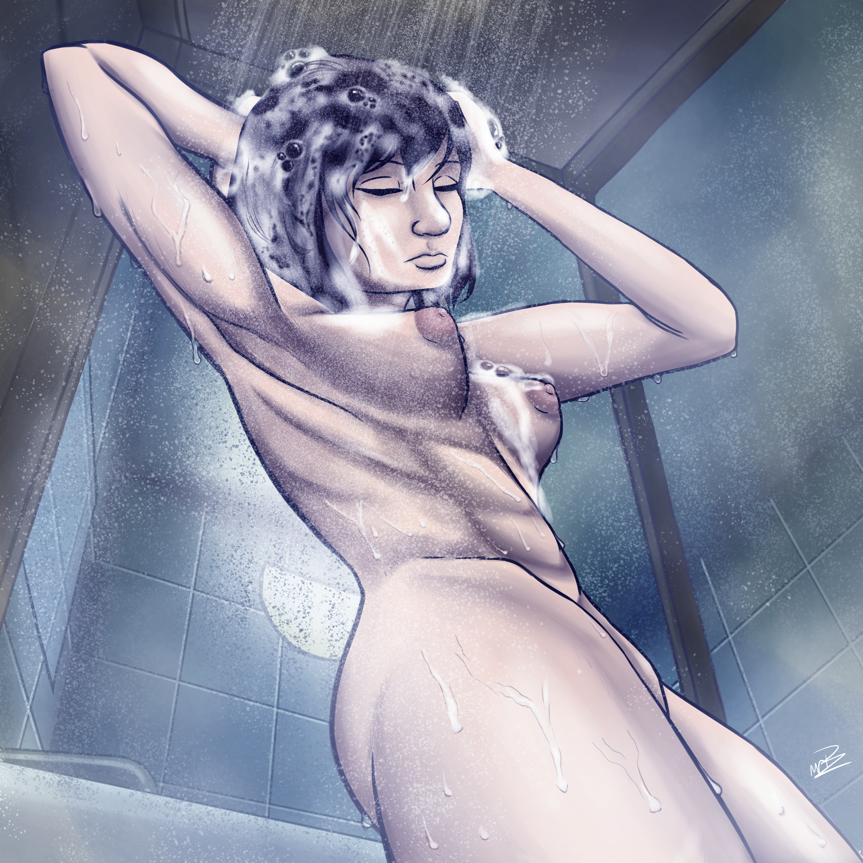 [OC] Emiria taking a shower