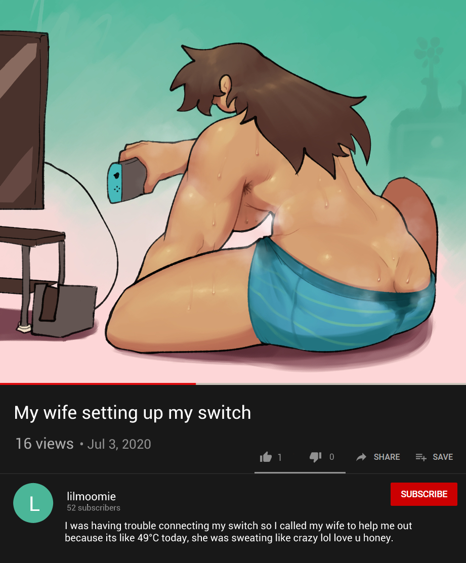 My wife setting up my switch