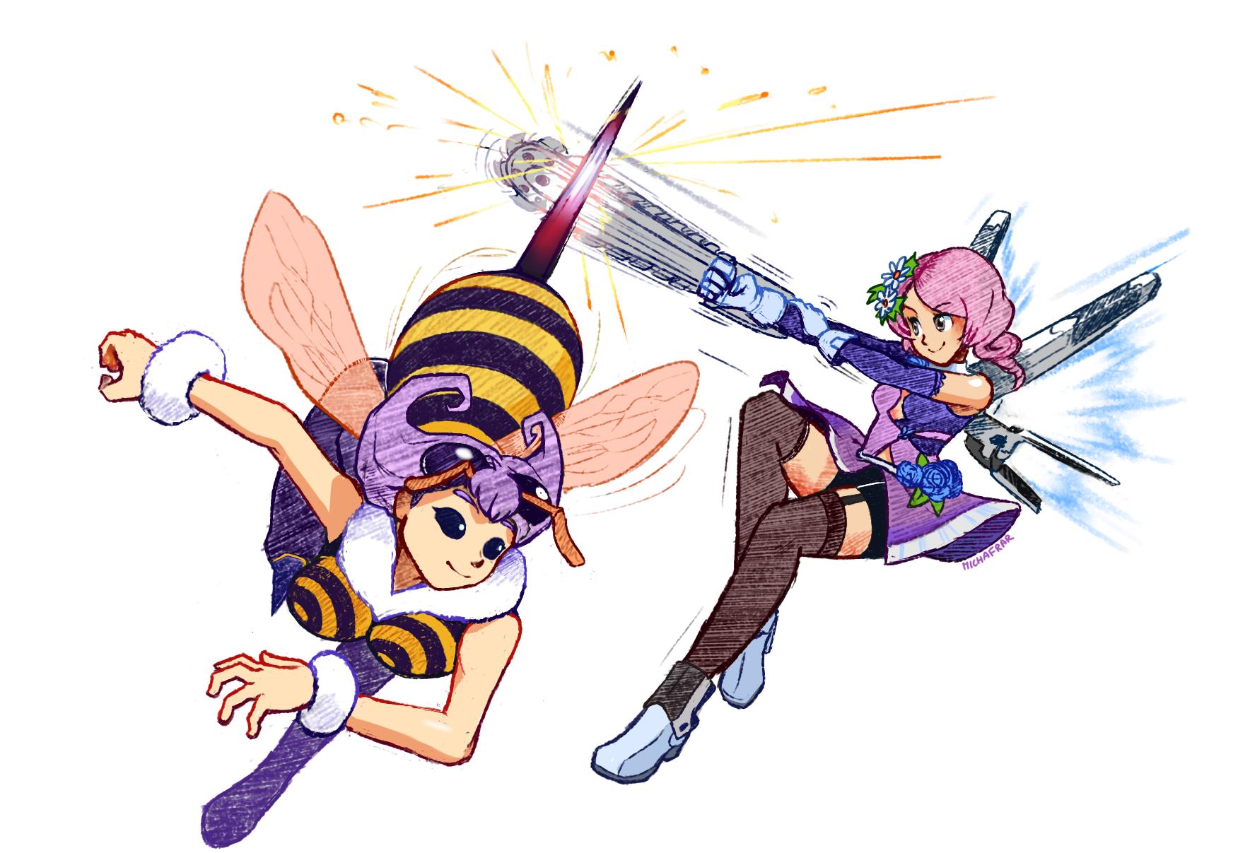 Q-bee & Alisa [Tekken x Darkstalkers]