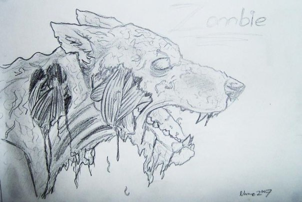 Zombie dog scetch