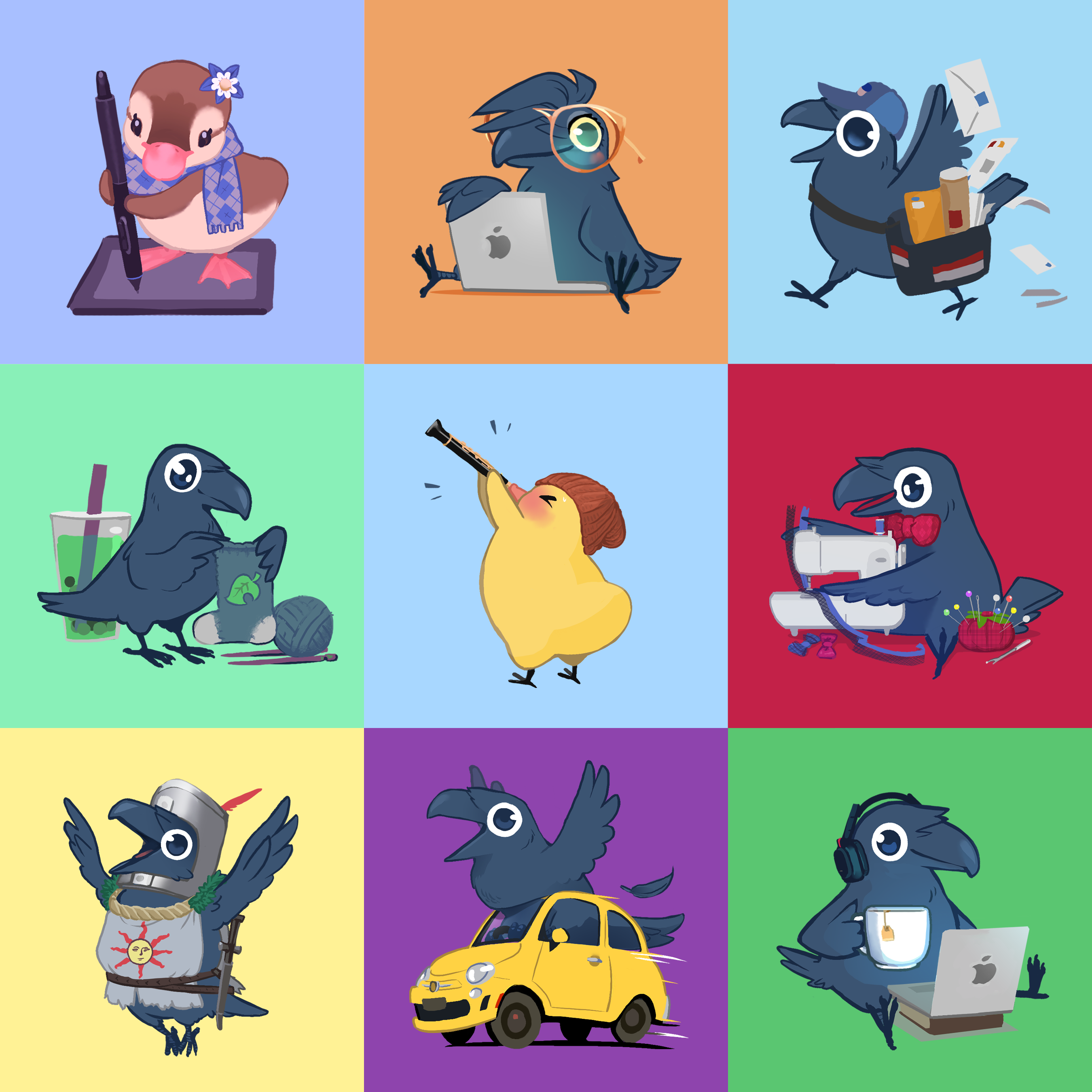 October Patreon Icons