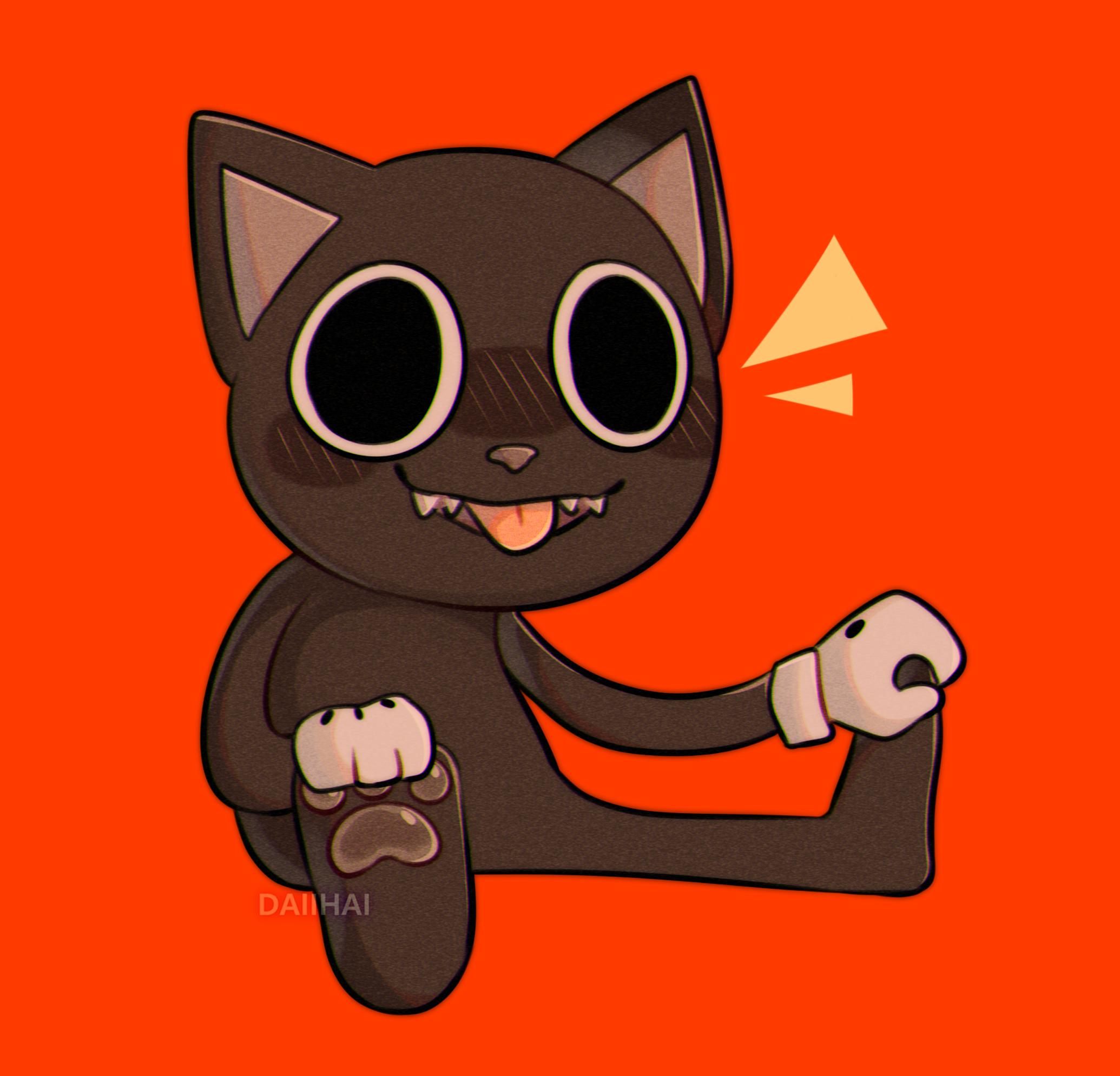 chibi cartoon cat