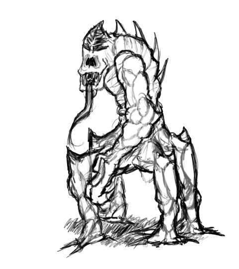 Krezai sentry creature
