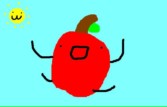 The prance of an apple