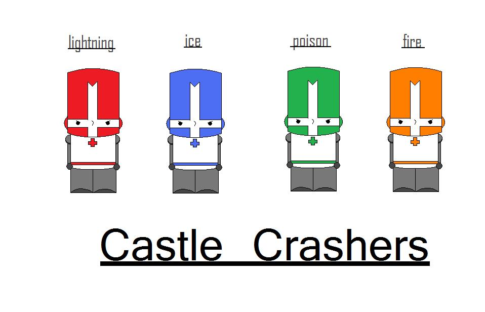 castle crasher red and blue