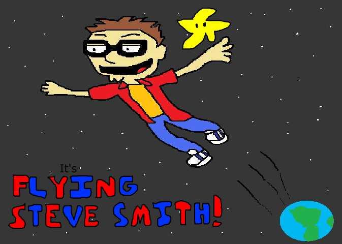 Flying Steve Smith