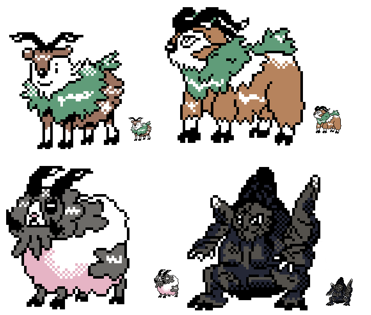 Pokemon GSC-style sprites VI: Evolution Solution