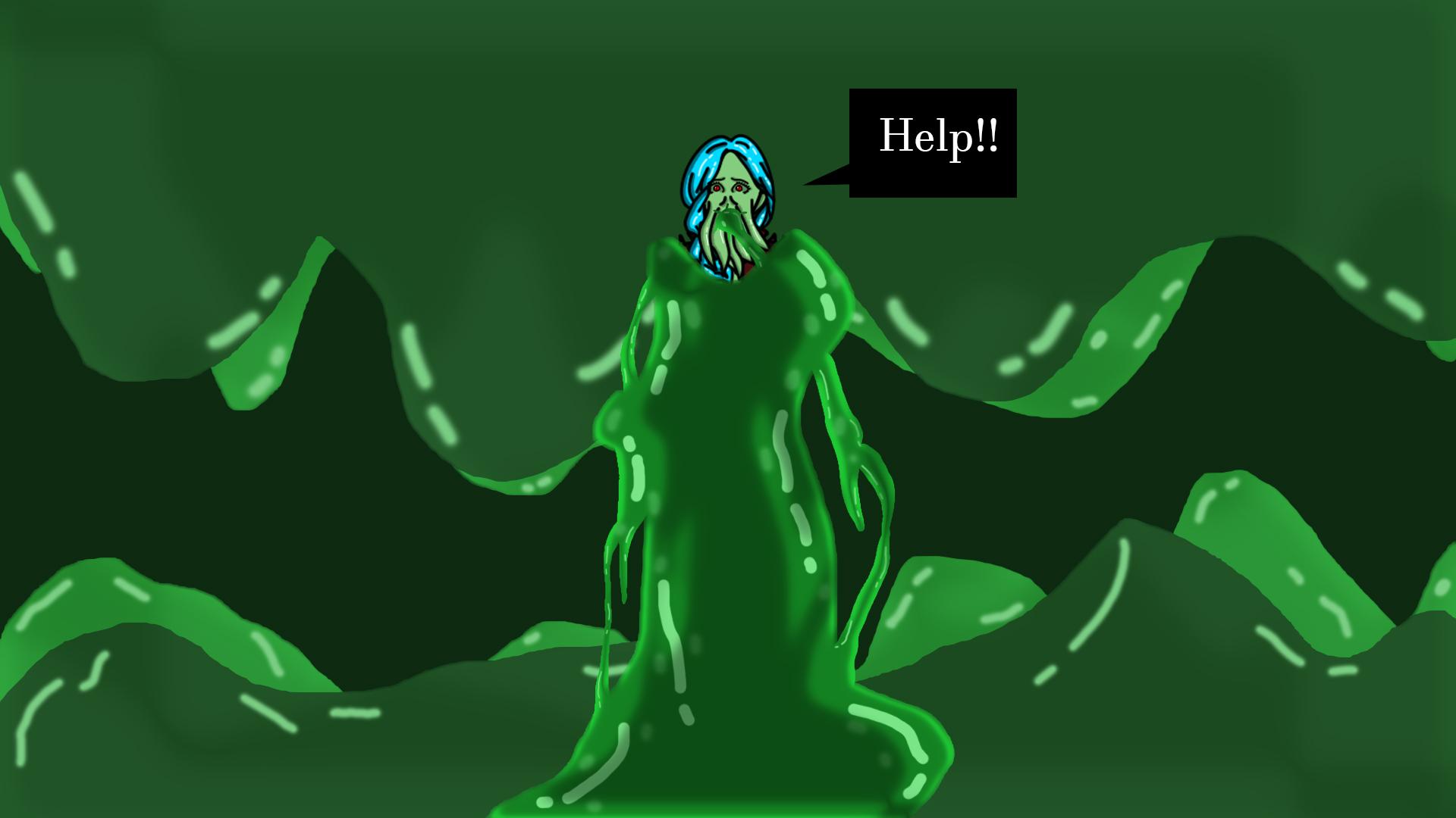 (OC) Loreena Trapped in Slime
