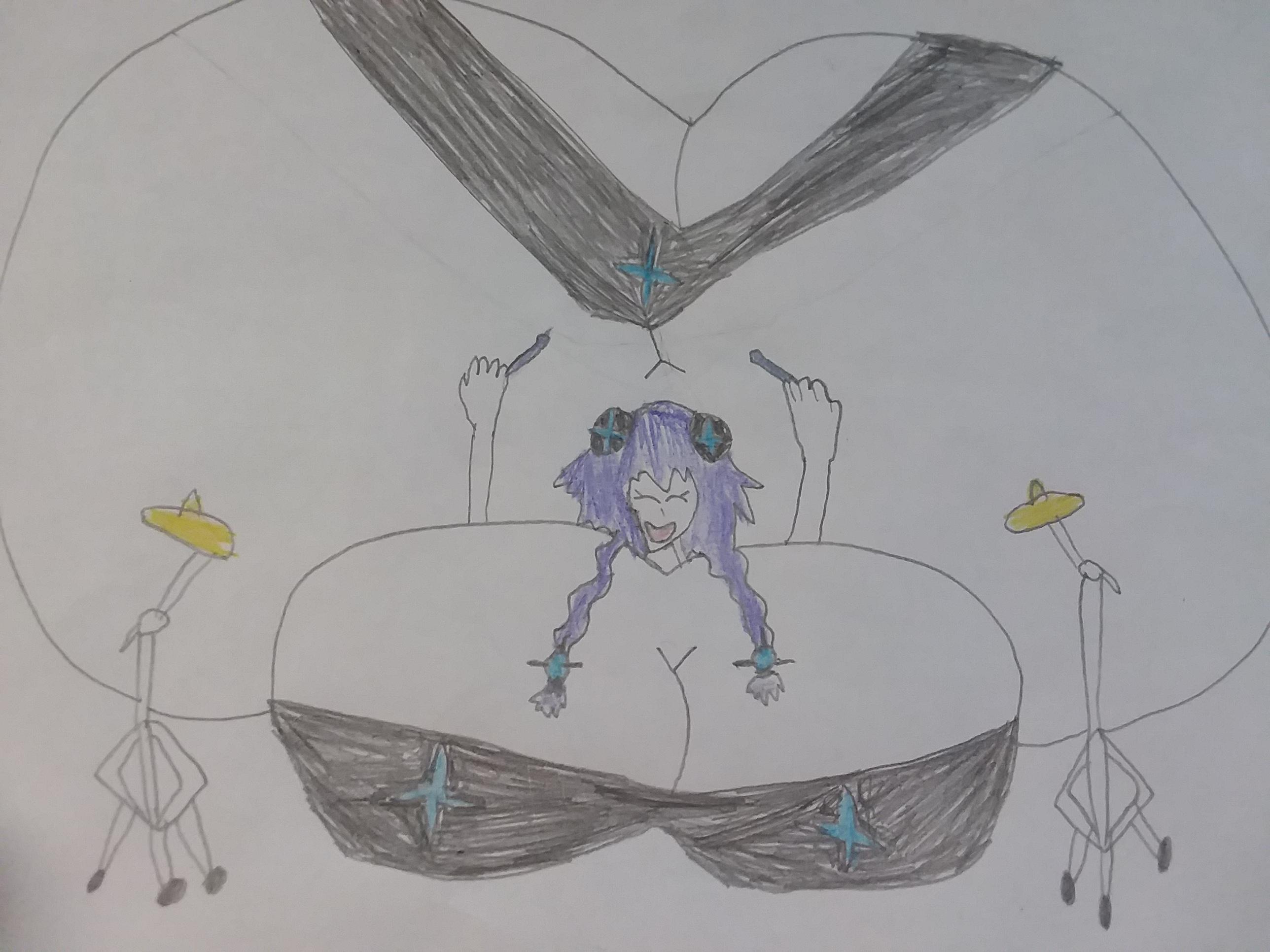 Hyperdimension Purple drummer
