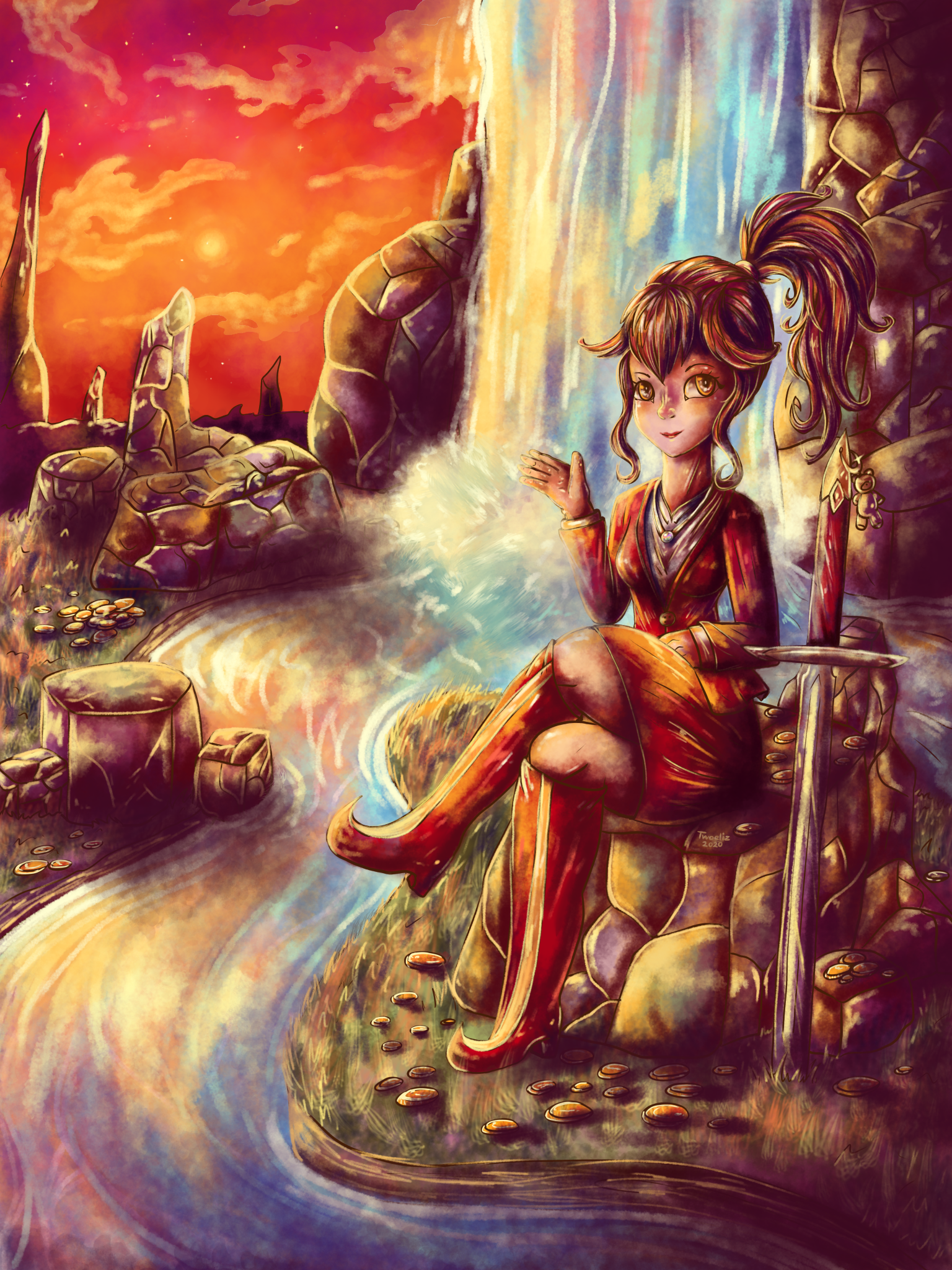 Anna and the Waterfall for SoulstoShadows