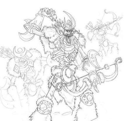 Skeleton draw