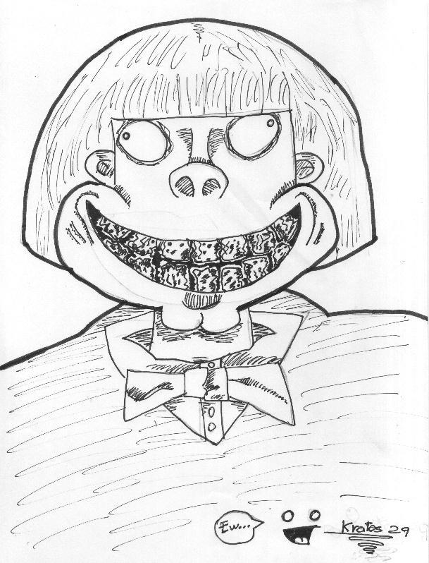 Willy Wonkas mouth