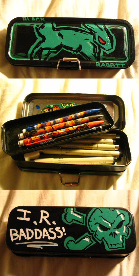 Black Rabbit Pencil case