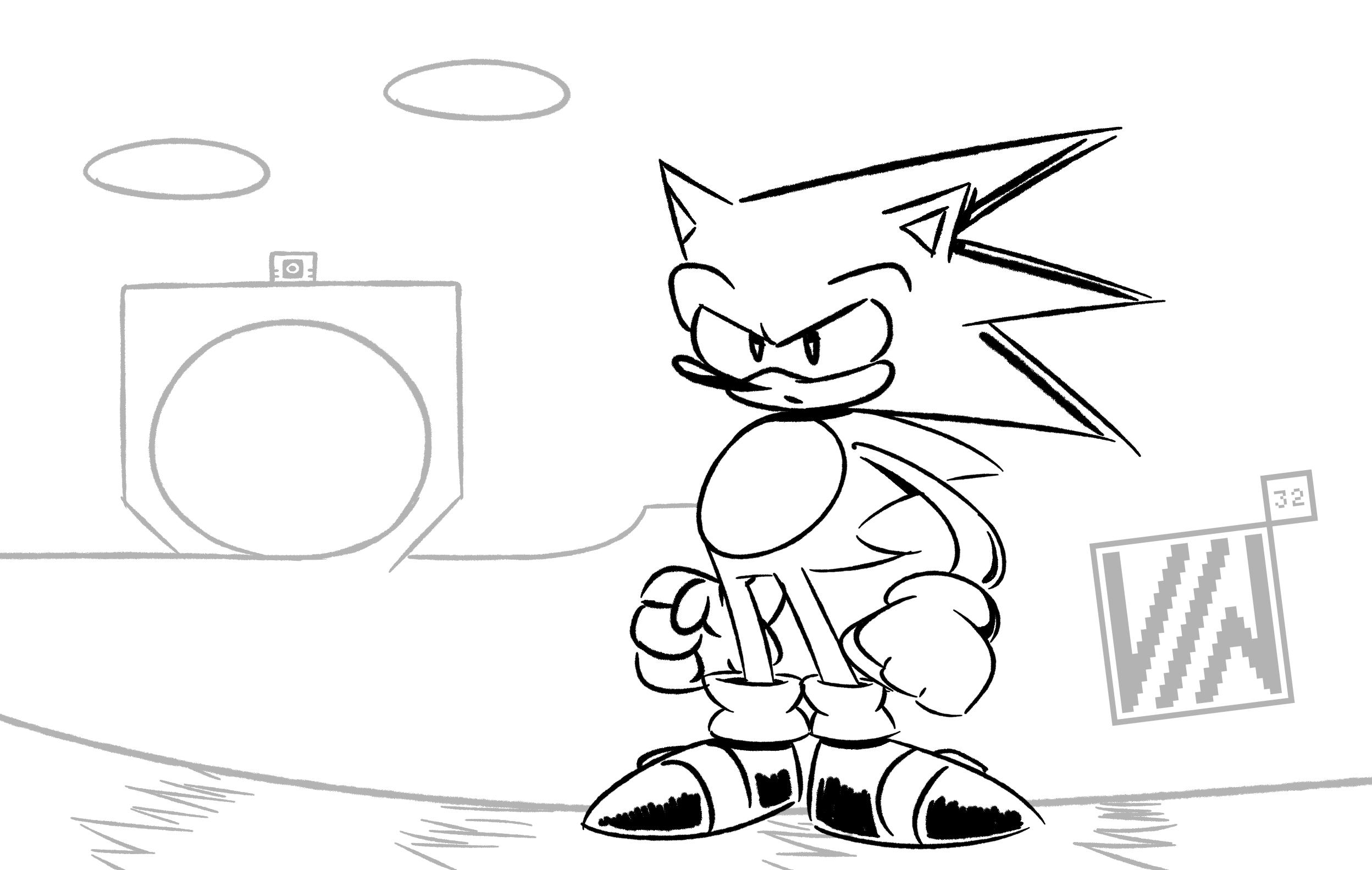 Sonic line art