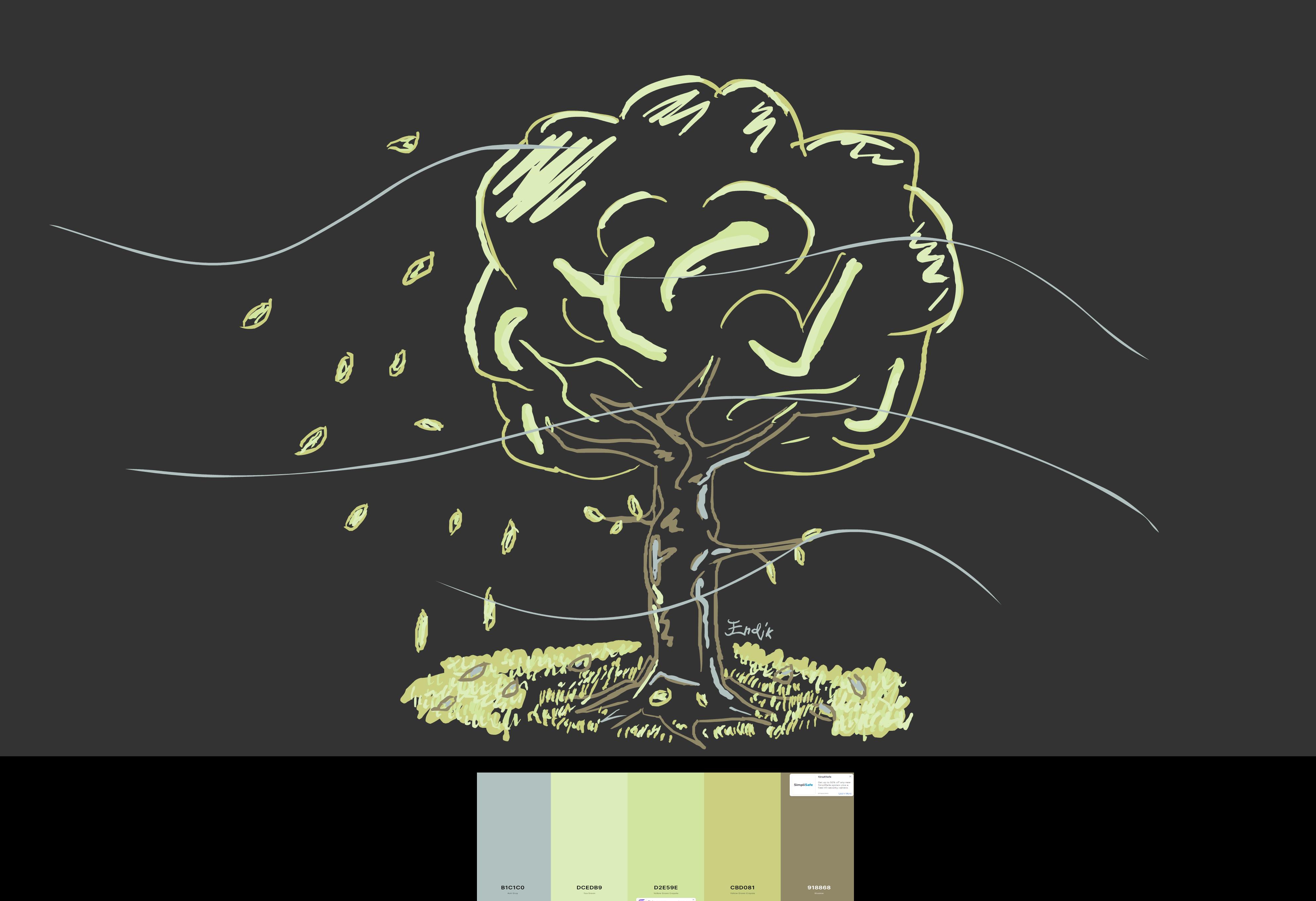 Color Palette Challenge - SEPTEMBER TREE