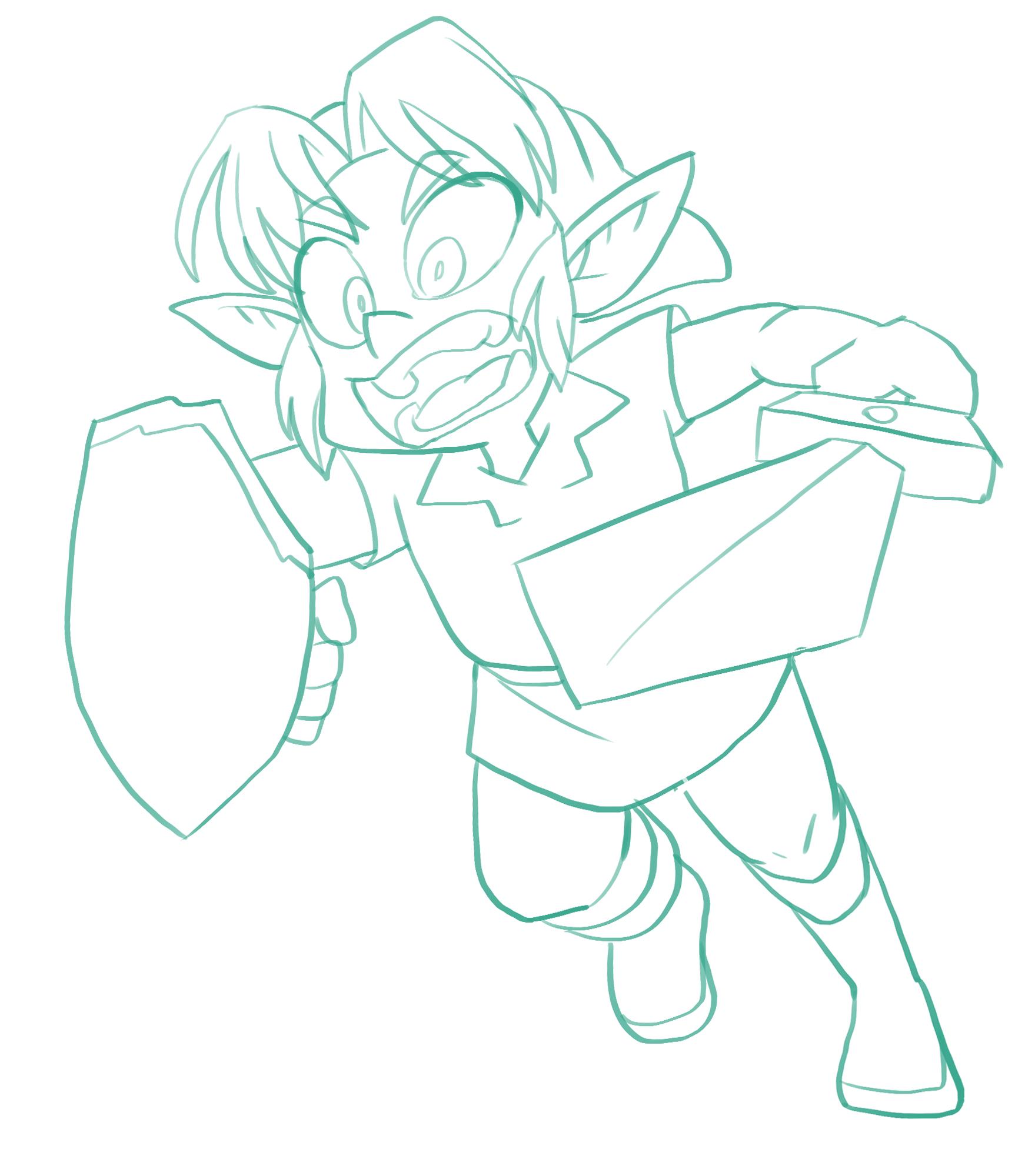 Elf boy sketch