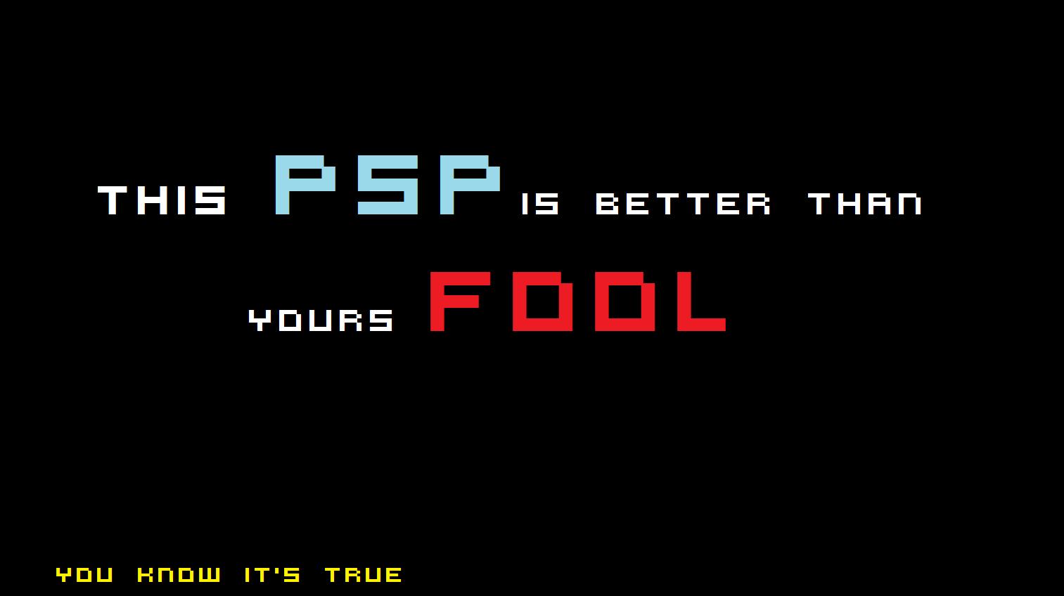 My psp is better pspgo poster