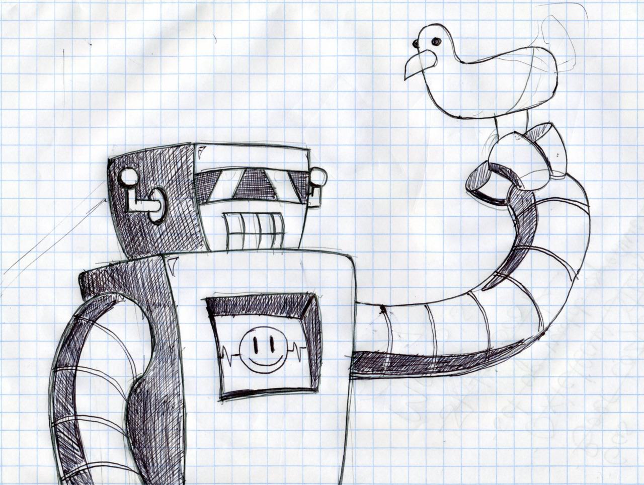 Robot and bird