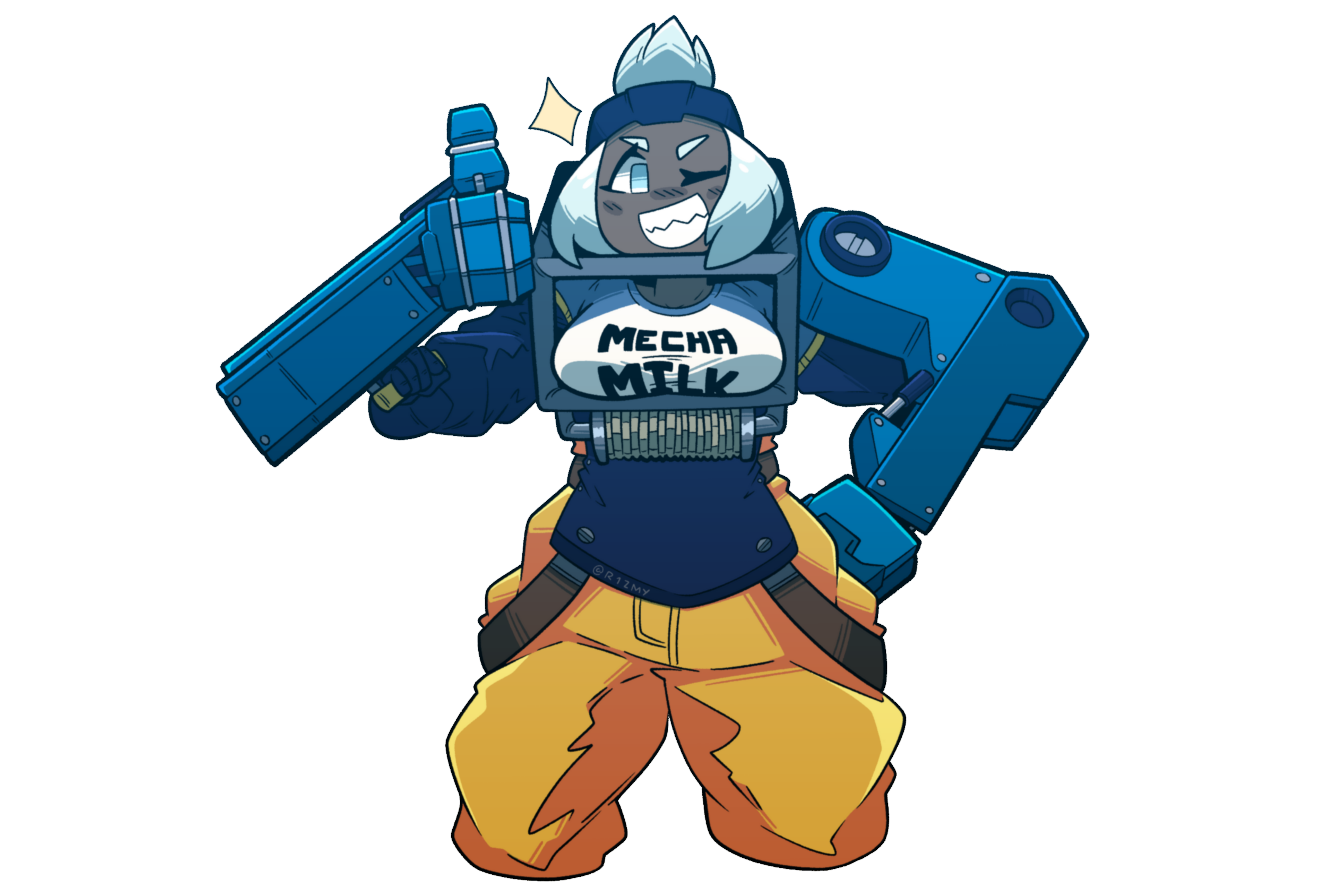 Loader with a funny shirt
