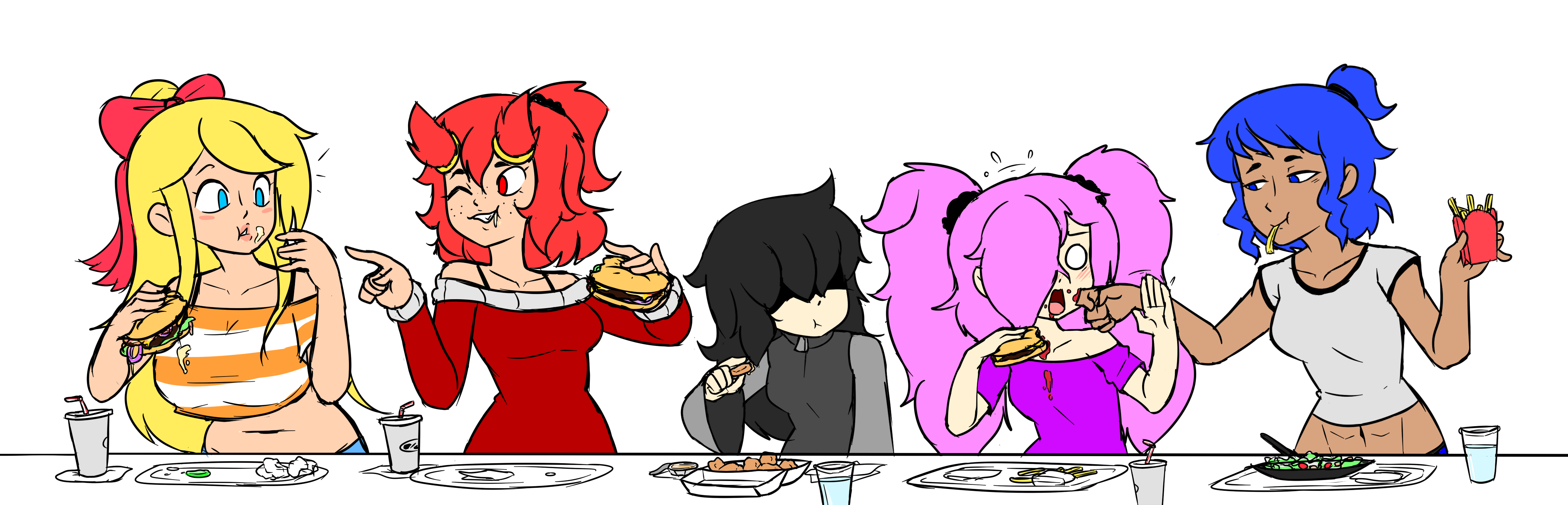 The Girls Eatin' Together