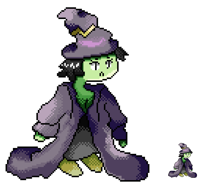 Lighting-Based Magic Witch OC
